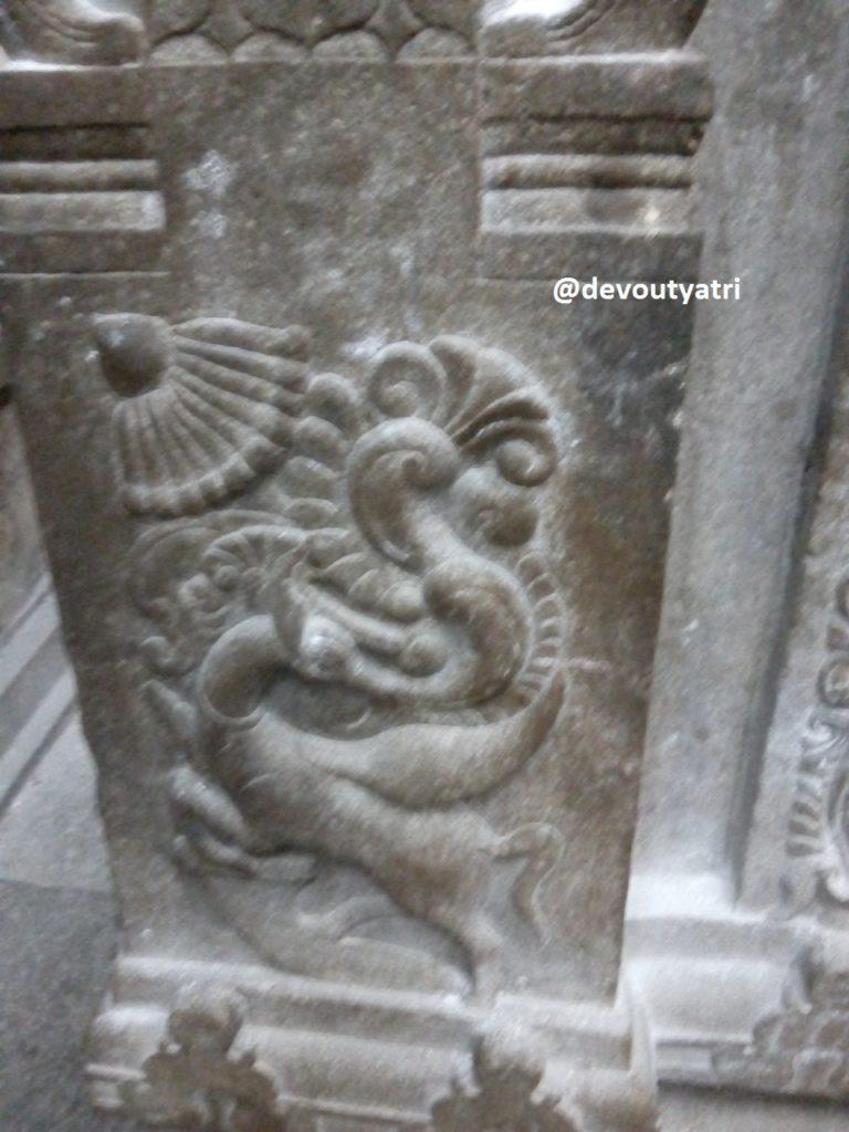Thiruvanaikoil Jambukeswarar Temple - Deer and Hamsam