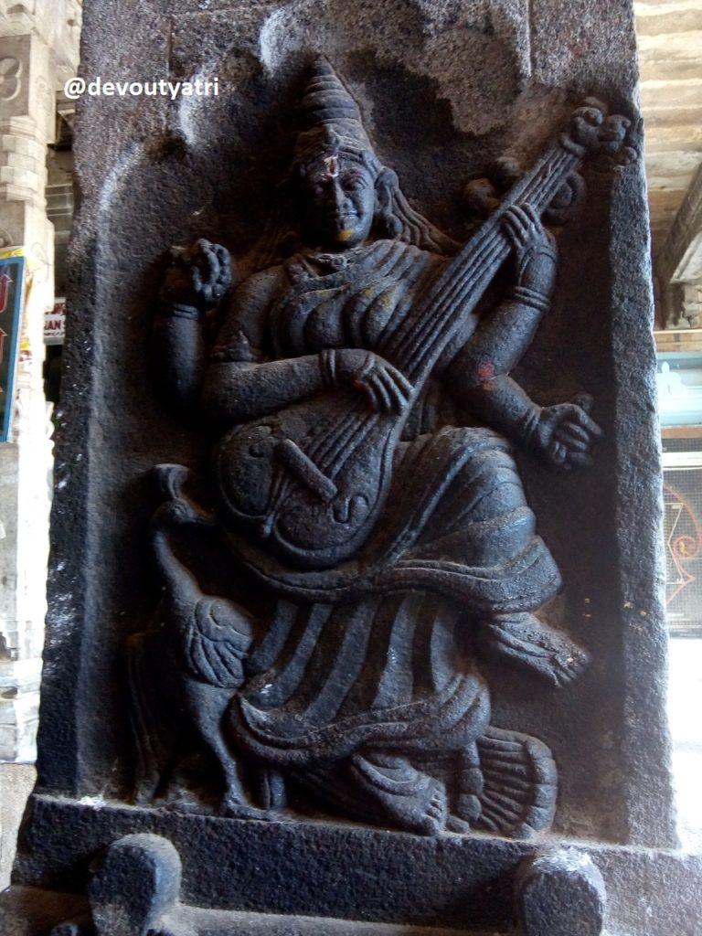 Thiruvanaikoil Jambukeswarar Temple - Saraswati